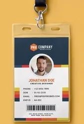 PVC Square Office ID Card