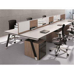 solidwood Linear Office Workstation