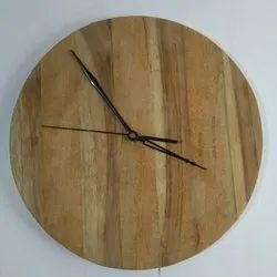 Plain Round Wooden Wall Clock