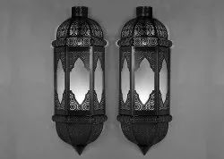 Aleeza white Moroccan Wall Lamp, 20
