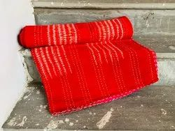 Red Kantha Bed Covers