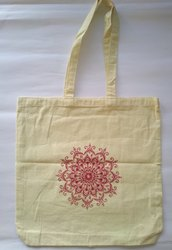 Unisex Handled Cotton Designer Shoulder Bags, Model Number: 503