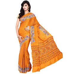 Designer Print Bandhani Saree