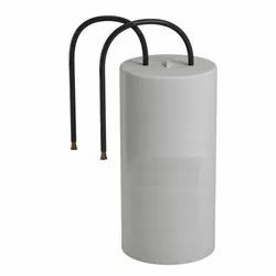 White Clamp Mounted Fan Capacitor