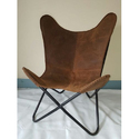 Hunter Leather Butterfly Chair