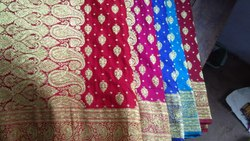Designer Printed Red Saree
