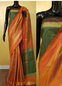 Raw Silk Woven Border Work Sarees