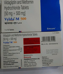 Vylda M 500 Vidagliptine And Metformin Hydrochloride, Emcure