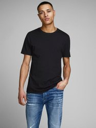 Cotton Half Sleeve Black Organic Basic T-Shirt