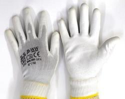 PU Plam Coated Gloves White