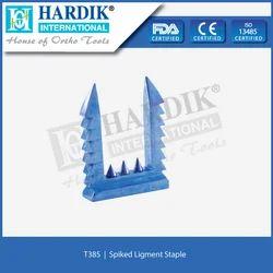 Spiked  Ligament Staple  (Titanium)