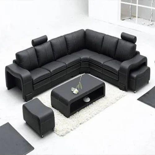 Solid Wood L Shape Sofa