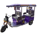 Purple Battery Operated Electric Rickshaw