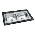 45x20x10 AMC Double Bowl Sink