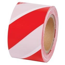 White \u0026 Red Barricade Safety Tape, Size
