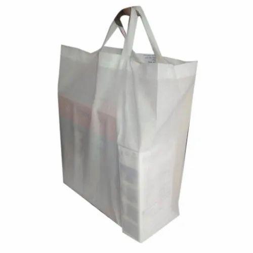 Plain White Folding Cloth Bags, Capacity: 5 to 10 kg