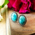 Presye Turquoise Stud, Nickel Free 925 Silver Sterling Earrings