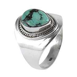 Great Turquoise 925 Sterling Silver Rings