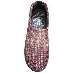 Synthetic Casual Wear Ladies Printed Slip On, Size: 4-7