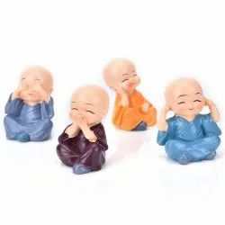Polyresin Buddha Statue Set of 4, For Decoration