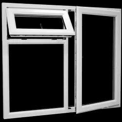 White UPVC Combination Window, Glass Thickness: 5-10 Mm