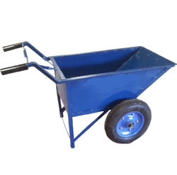 Excel Double Wheel Barrow / Construction Bucket Trolley With Chain for Monkey Crane