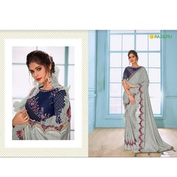 Party Wear Embroidered Pari E-1318 Rajguru Ladies Sarees, 6 m (with blouse piece)