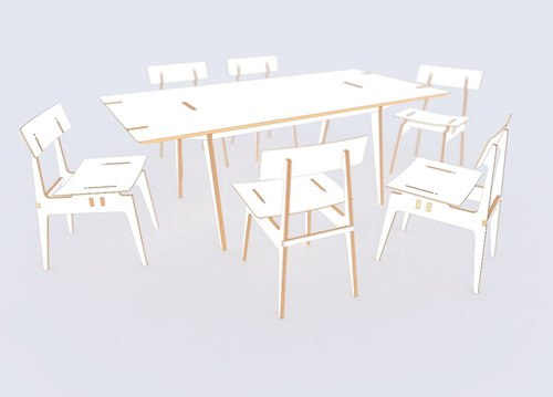 Glaze Knockdown Furniture, Knock Down Furniture