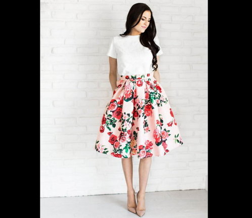 Floral Printed Skirts, Age: 14-40