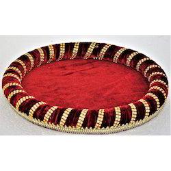 Round Velvet Wedding Trays