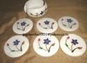 Antique Marble Coaster Set