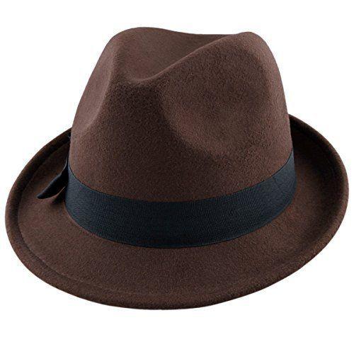 Looks Brown Mens Trilby Hat 24f2932bc0d