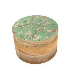 Customized 50g 100g 200 G Wooden Cosmetic Packaging, Bamboo Cream Jar From Leaf