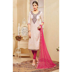 Multi-color Medium And Large Cotton Embroidery Suits