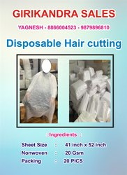 Salun Apron Male Disposable Hair cutting, Applicable Age Group: 30-40 years