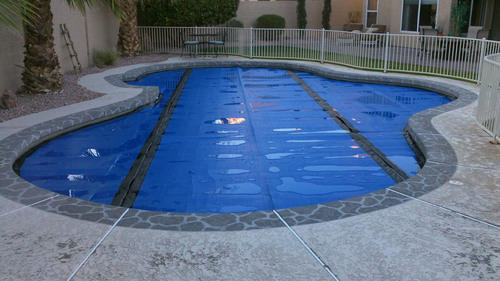 Image result for retractable solar pool cover