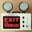 Powder Coated Steel Body. Model-2-exit Nikash Industrial Emergency Led Light