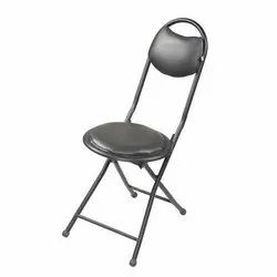 Asian Black Compact Folding Chair