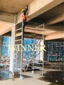 Silver Aluminium Scaffolding Ladder, 4