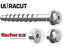 STEEL FISCHER CONCRETE SCREW ANCHOR, For Anchoring, Size: 10 X 100
