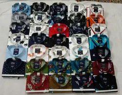 Mix Printed Mens Shirt