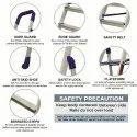 Parasnath Home Pro 5 Step Light Weight Aluminium Heavy Duty Folding Ladder
