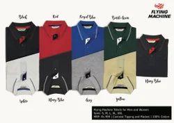 Plain 9 Colors Flying Machine T-Shirts