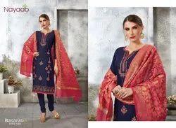 Nayaab Jaam Satin Banarasi Dupatta Unstitched Salwar Suit