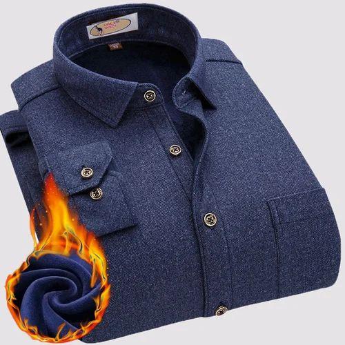 de5f77bb0b0 Blue Flannel Shirt Men Shirts