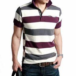 Mens Cotton Casual Wear T-Shirt, Size: S, M & L