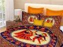 Rajasthani Bedsheet Cotton Double Bed Dancing Dandiya