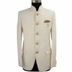 Wedding Singh Brand Jodhpuri Printed Cream Suit
