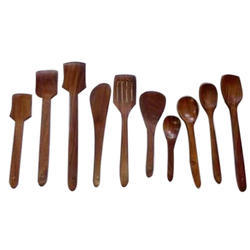 Wooden Cutlery Set for Eating and Cooking