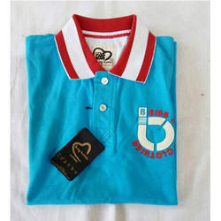 Branded Cotton Men Sky Blue Polo T Shirt